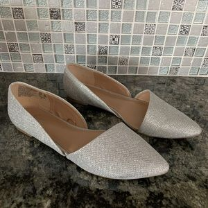 Fioni Silver Sparkle Evelyn Flats Size 8.5